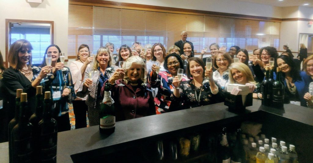 Delaware SHRM leaders sharing a toast to usher in 2019